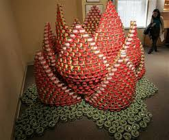 canned food sculptures