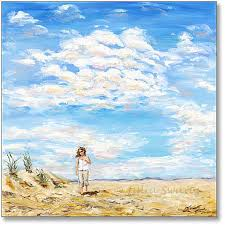 beach oil painting