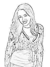 coloring pages of hannah montana