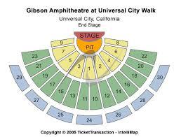gibson amphitheatre map