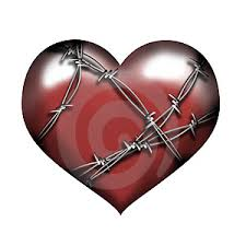 heart with barbwire