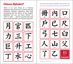 free chinese letters