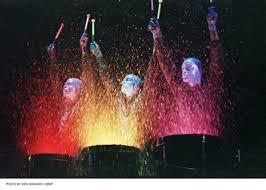 blue man group paint drums