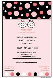 baby shower twins invitations