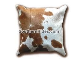 cow hide cushions
