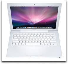 apple laptop white