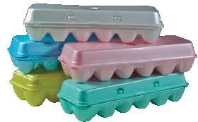 styrofoam egg cartons