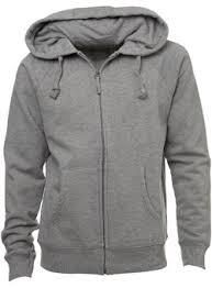 plain zip hoodie