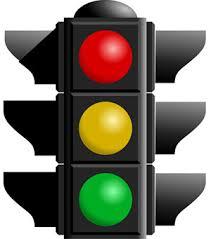 blinking traffic light