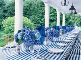 blue and white party