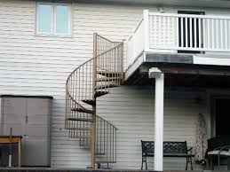 exterior spiral staircases