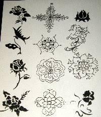 flower tattoo stencils
