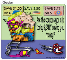 cut out coupons from your