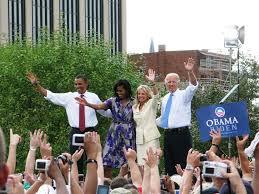 obama biden rally