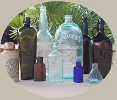 antiques glass bottles