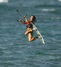 kite surfs