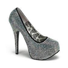 black rhinestone shoe