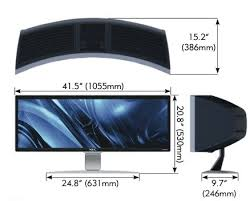 curved lcd display