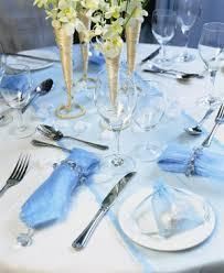 blue table setting
