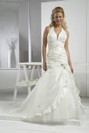 halter bridal dress