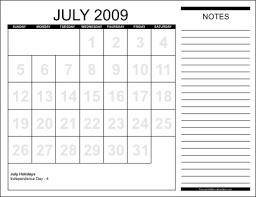 june july 2009 calendar