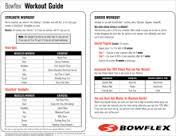 bowflex workout chart