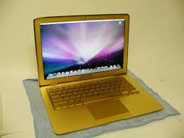 apple gold laptop