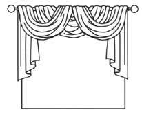draped curtain