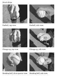 baseball pitching grip