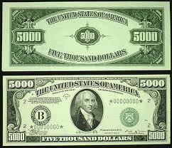 $5000 bill
