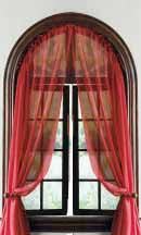 half round window curtain