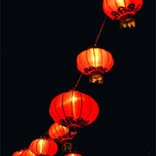 floating chinese lanterns