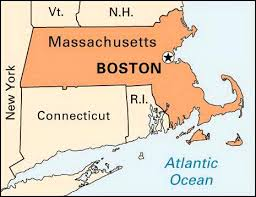 map of massachusetts boston