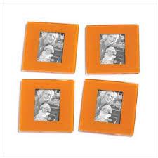 orange photo frames