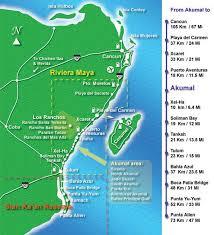 playa del carmen resort map