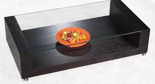 contemporary glass side table