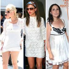 a line white dress