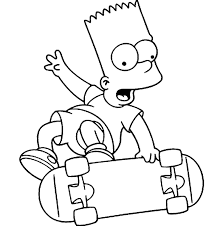 bart simpson coloring pictures