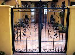 cast iron garden gates
