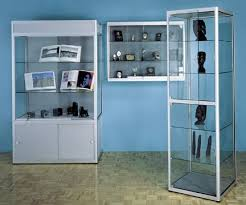 glass case displays