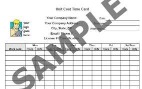 time card sheet