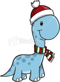 christmas dinosaur