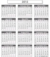 2009 2012 calendar