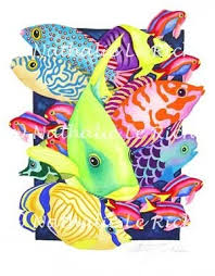 tropical fish art