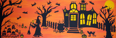 halloween paintings