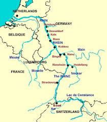 map of rhine river