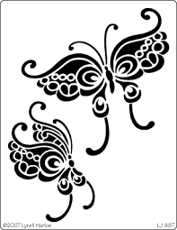 butterfly tattoo stencils