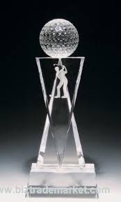 crystal golf trophy