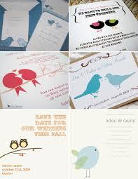 bird wedding invites