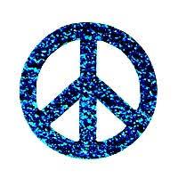 glitter peace sign